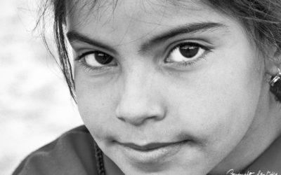 Jeune fille sur le site de Palmyre
